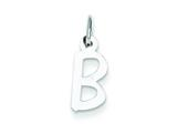 Sterling Silver Small Slanted Block Initial B Charm style: QC5081B