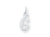 Sterling Silver Small Slanted Block Initial G Charm style: QC5081G