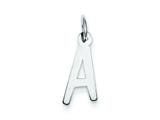 Sterling Silver Medium Slanted Block Initial A Charm style: QC5083A