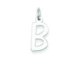 Sterling Silver Medium Slanted Block Initial B Charm style: QC5083B