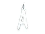 Sterling Silver Large Slanted Block Initial A Charm style: QC5085A