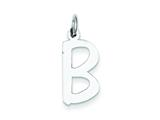 Sterling Silver Large Slanted Block Initial B Charm style: QC5085B