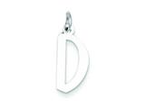 Sterling Silver Large Slanted Block Initial D Charm style: QC5085D