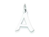 Sterling Silver Small Artisian Block Initial A Charm style: QC5087A