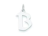 Sterling Silver Small Artisian Block Initial B Charm style: QC5087B