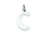 Sterling Silver Small Artisian Block Initial C Charm style: QC5087C