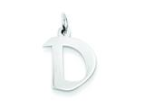 Sterling Silver Small Artisian Block Initial D Charm style: QC5087D