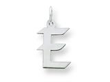 Sterling Silver Small Artisian Block Initial E Charm style: QC5087E