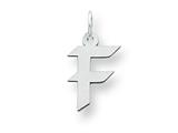 Sterling Silver Small Artisian Block Initial F Charm style: QC5087F