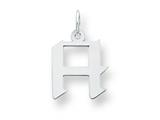 Sterling Silver Small Artisian Block Initial H Charm style: QC5087H