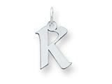 Sterling Silver Small Artisian Block Initial K Charm style: QC5087K