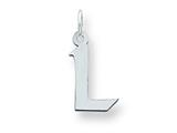 Sterling Silver Small Artisian Block Initial L Charm style: QC5087L