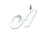 Sterling Silver Large Fancy Script Initial A Charm style: QC5090A