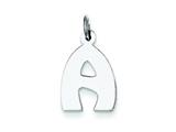 Sterling Silver Bubble Block Initial A Charm style: QC5091A