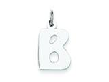 Sterling Silver Bubble Block Initial B Charm style: QC5091B