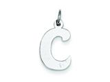 Sterling Silver Bubble Block Initial C Charm style: QC5091C