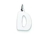 Sterling Silver Bubble Block Initial D Charm style: QC5091D