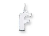 Sterling Silver Bubble Block Initial F Charm style: QC5091F