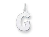 Sterling Silver Bubble Block Initial G Charm style: QC5091G