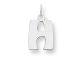 Sterling Silver Bubble Block Initial H Charm style: QC5091H