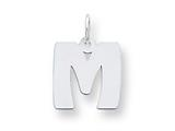 Sterling Silver Bubble Block Initial M Charm style: QC5091M
