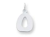 Sterling Silver Bubble Block Initial O Charm style: QC5091O