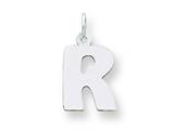 Sterling Silver Bubble Block Initial R Charm style: QC5091R