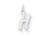 Sterling Silver Small Initial H Charm style: QC5092H