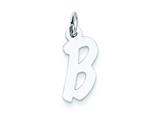Sterling Silver Medium Initial B Charm style: QC5094B