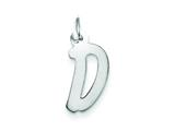 Sterling Silver Medium Initial D Charm style: QC5094D