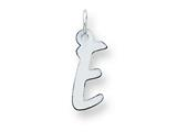 Sterling Silver Medium Initial E Charm style: QC5094E