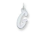 Sterling Silver Medium Initial G Charm style: QC5094G