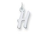 Sterling Silver Medium Initial H Charm style: QC5094H