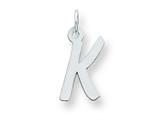 Sterling Silver Medium Initial K Charm style: QC5094K