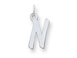 Sterling Silver Medium Initial N Charm style: QC5094N
