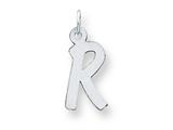 Sterling Silver Medium Initial R Charm style: QC5094R