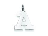 Sterling Silver Medium Block Initial A Charm style: QC5095A