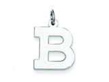 Sterling Silver Medium Block Initial B Charm style: QC5095B