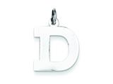 Sterling Silver Medium Block Initial D Charm style: QC5095D