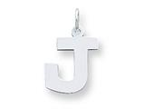 Sterling Silver Medium Block Initial J Charm style: QC5095J