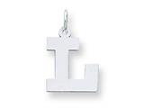 Sterling Silver Medium Block Initial L Charm style: QC5095L