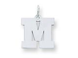 Sterling Silver Medium Block Initial M Charm style: QC5095M