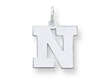 Sterling Silver Medium Block Initial N Charm style: QC5095N