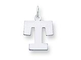 Sterling Silver Medium Block Initial T Charm style: QC5095T