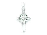 Sterling Silver Cubic Zirconia Skull Charm style: QC5151