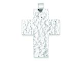 Sterling Silver Hammered Latin Cross Pendant - Chain Included style: QC5328