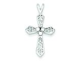 Sterling Silver Cubic Zirconia Passion Cross Pendant - Chain Included style: QC5342