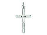 Sterling Silver Crucifix Pendant - Chain Included style: QC5429