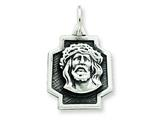 Sterling Silver Antiqued Ecce Homo Charm style: QC5496