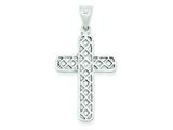 Sterling Silver Antiqued Cross Pendant - Chain Included style: QC5837